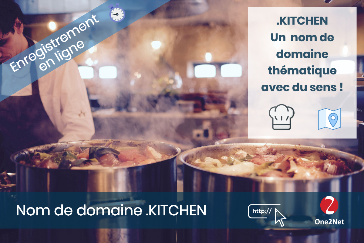 Nom de domaine .KITCHEN - One2Net