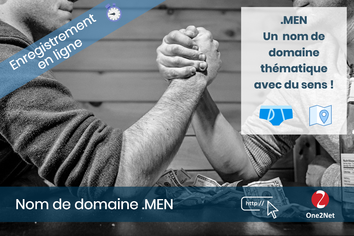 Nom de domaine .MEN - One2Net
