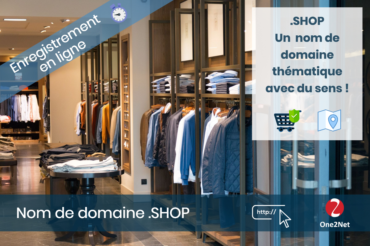 Nom de domaine .SHOP - One2Net