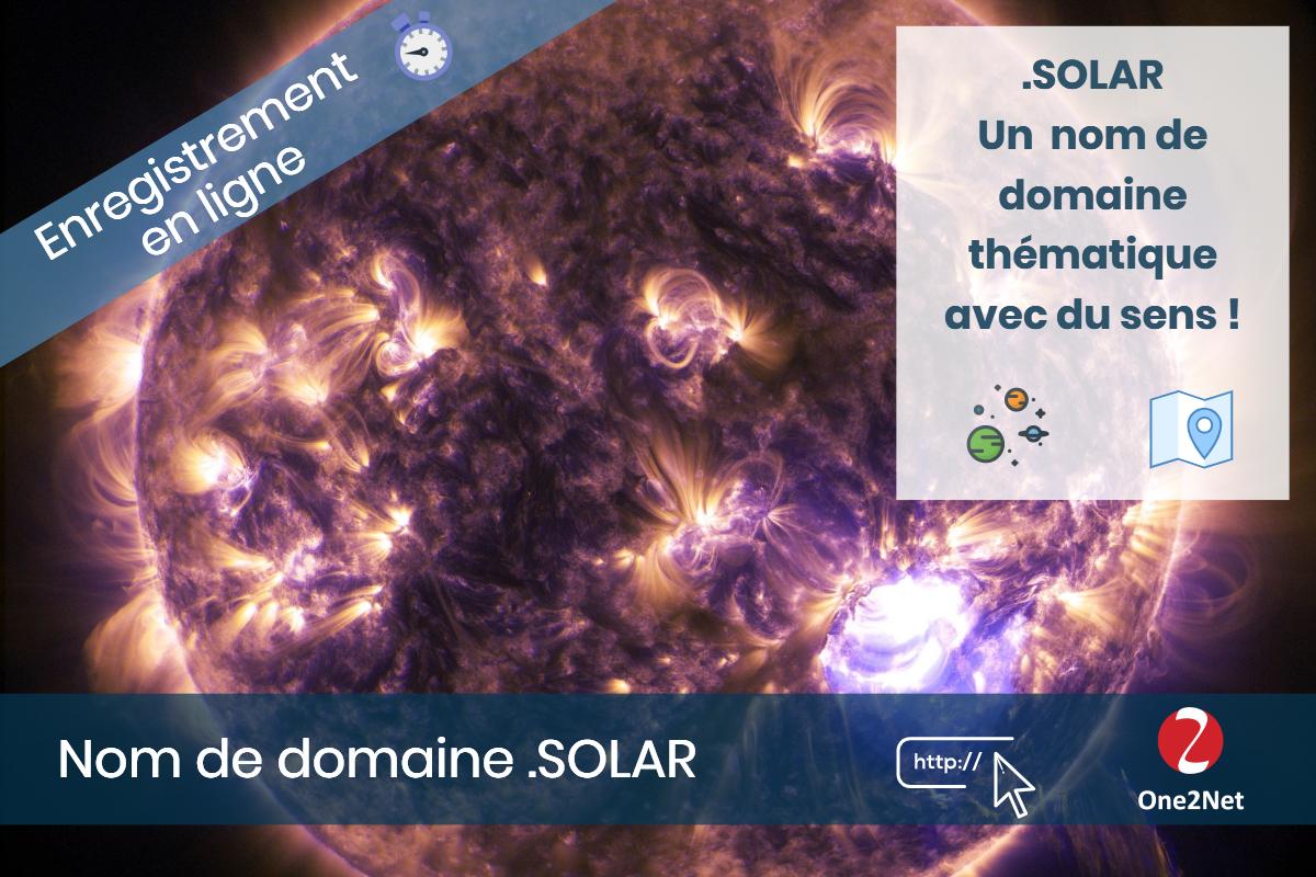Nom de domaine .SOLAR - One2Net