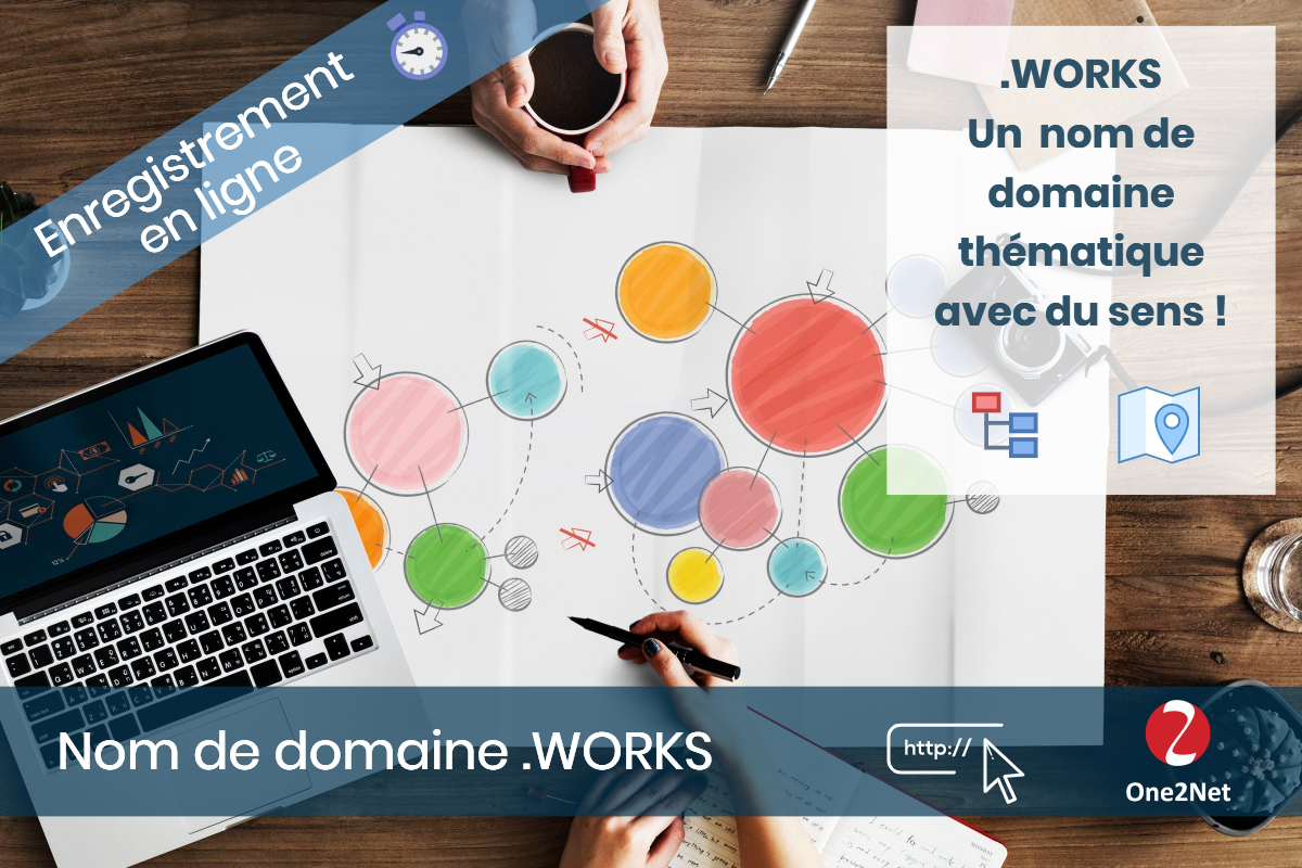 Nom de domaine .WORKS - One2Net