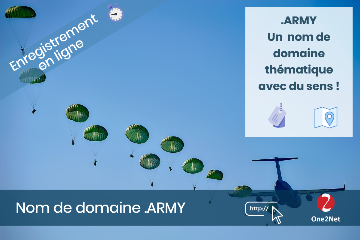 Nom de domaine .ARMY - One2Net