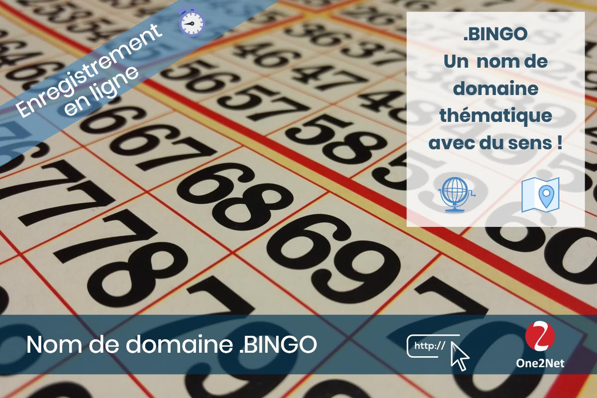 Nom de domaine .BINGO - One2Net