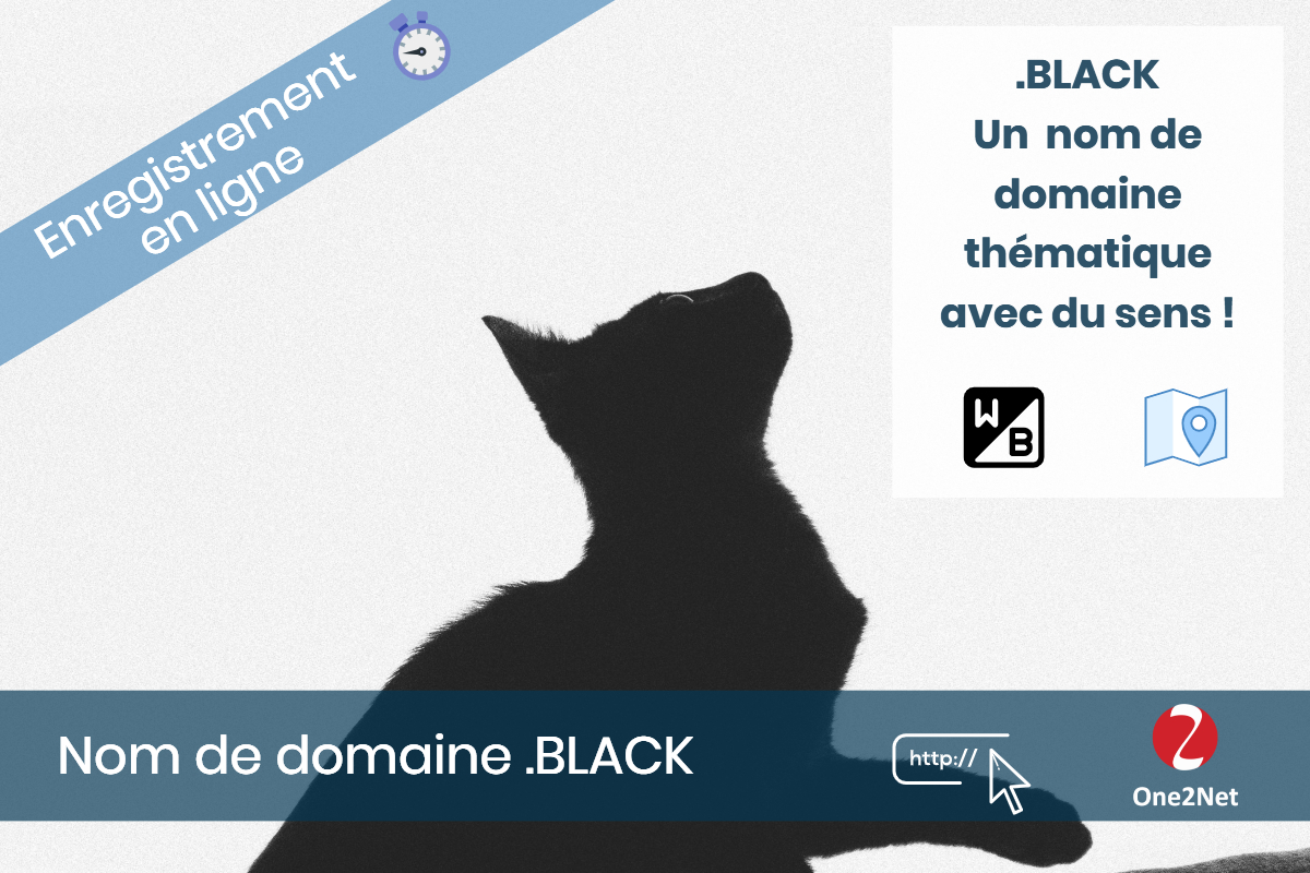 Nom de domaine .BLACK - One2Net