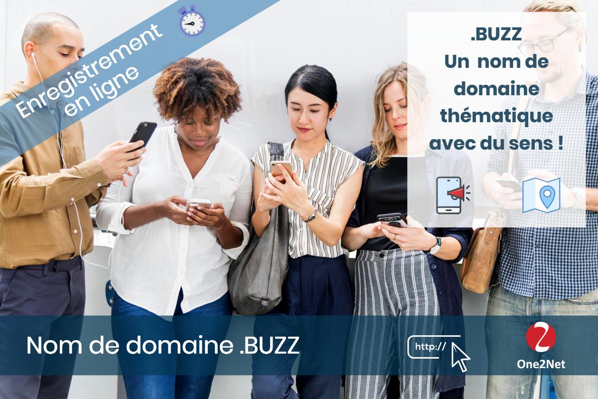 Nom de domaine .BUZZ - One2Net