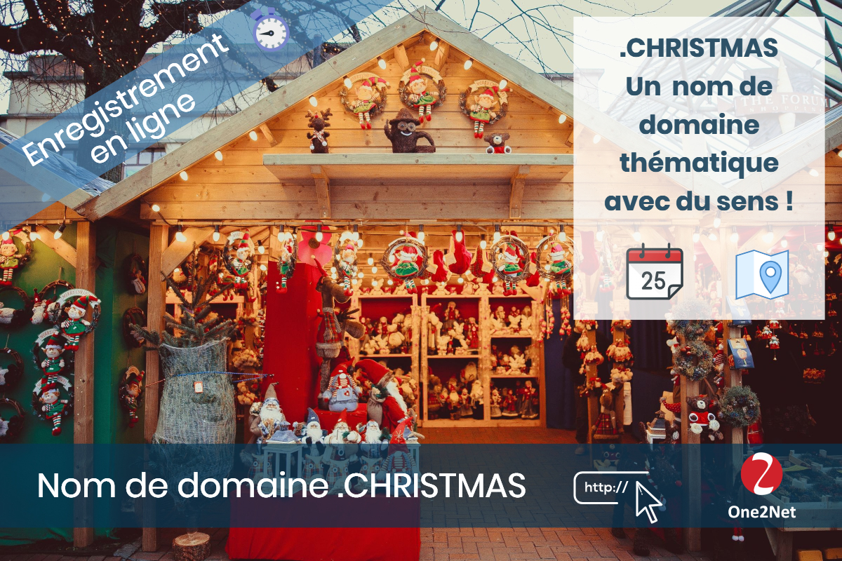 Nom de domaine .CHRISTMAS - One2Net