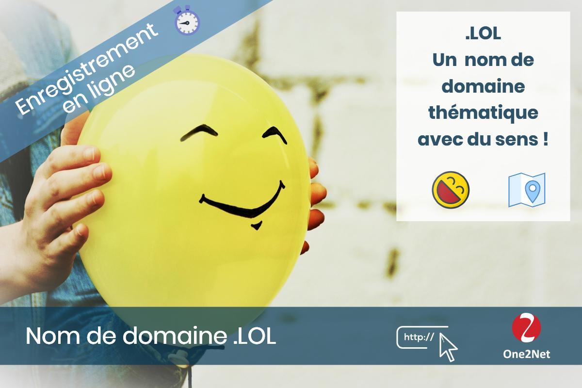 Nom de domaine .LOL - One2Net