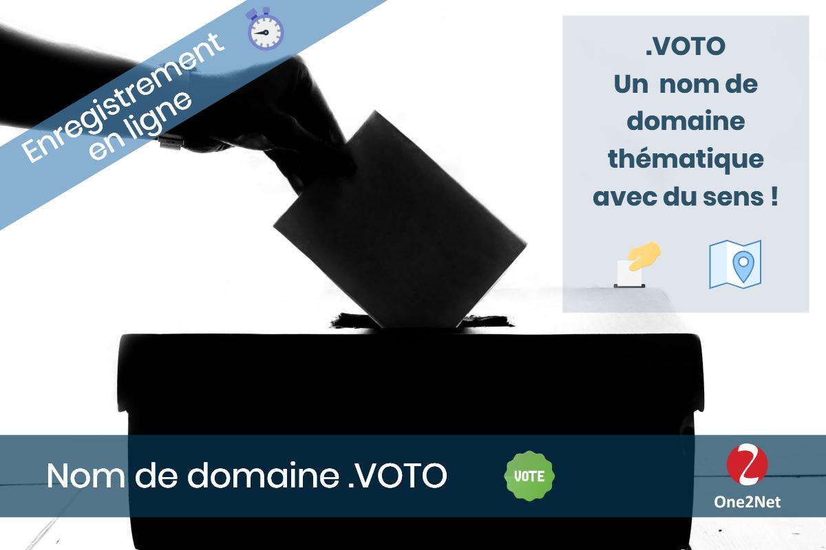 Nom de domaine .VOTO - One2Net