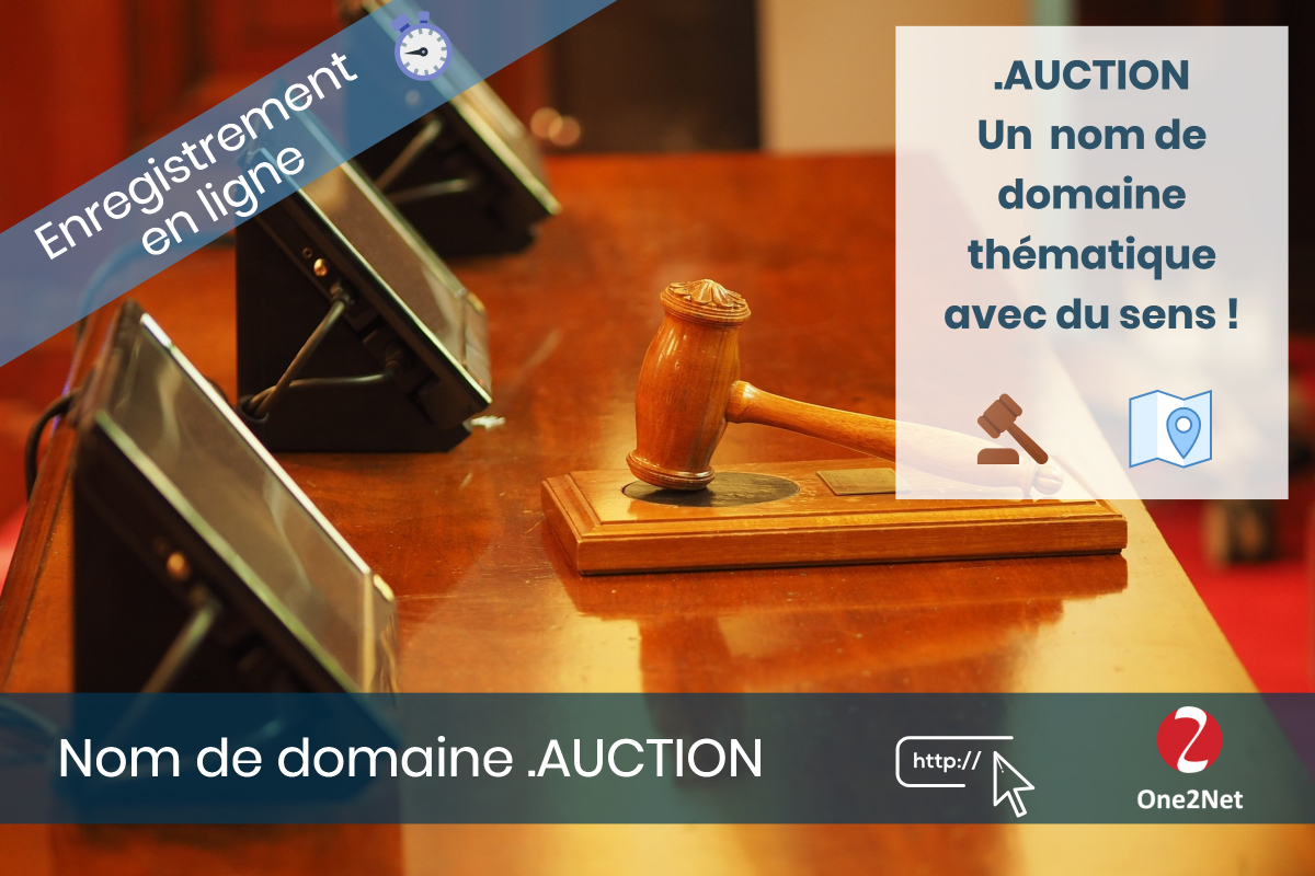 Nom de domaine .AUCTION - One2Net