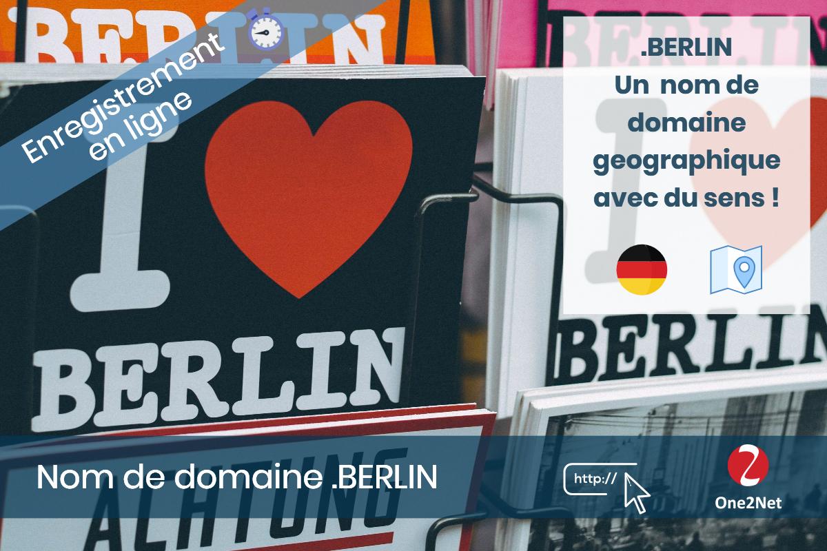 Nom de domaine .BERLIN - One2Net