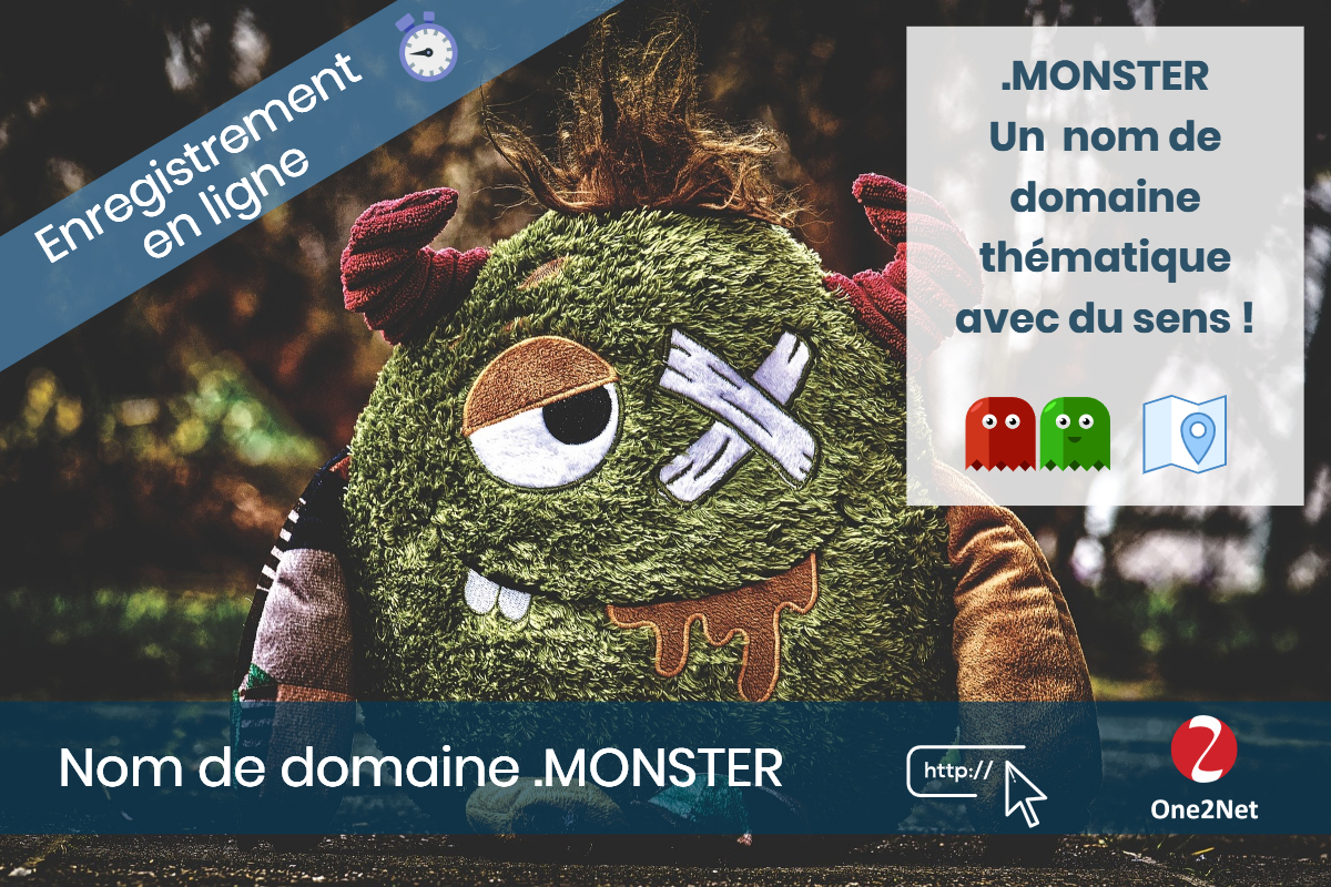 Nom de domaine .MONSTER - One2Net