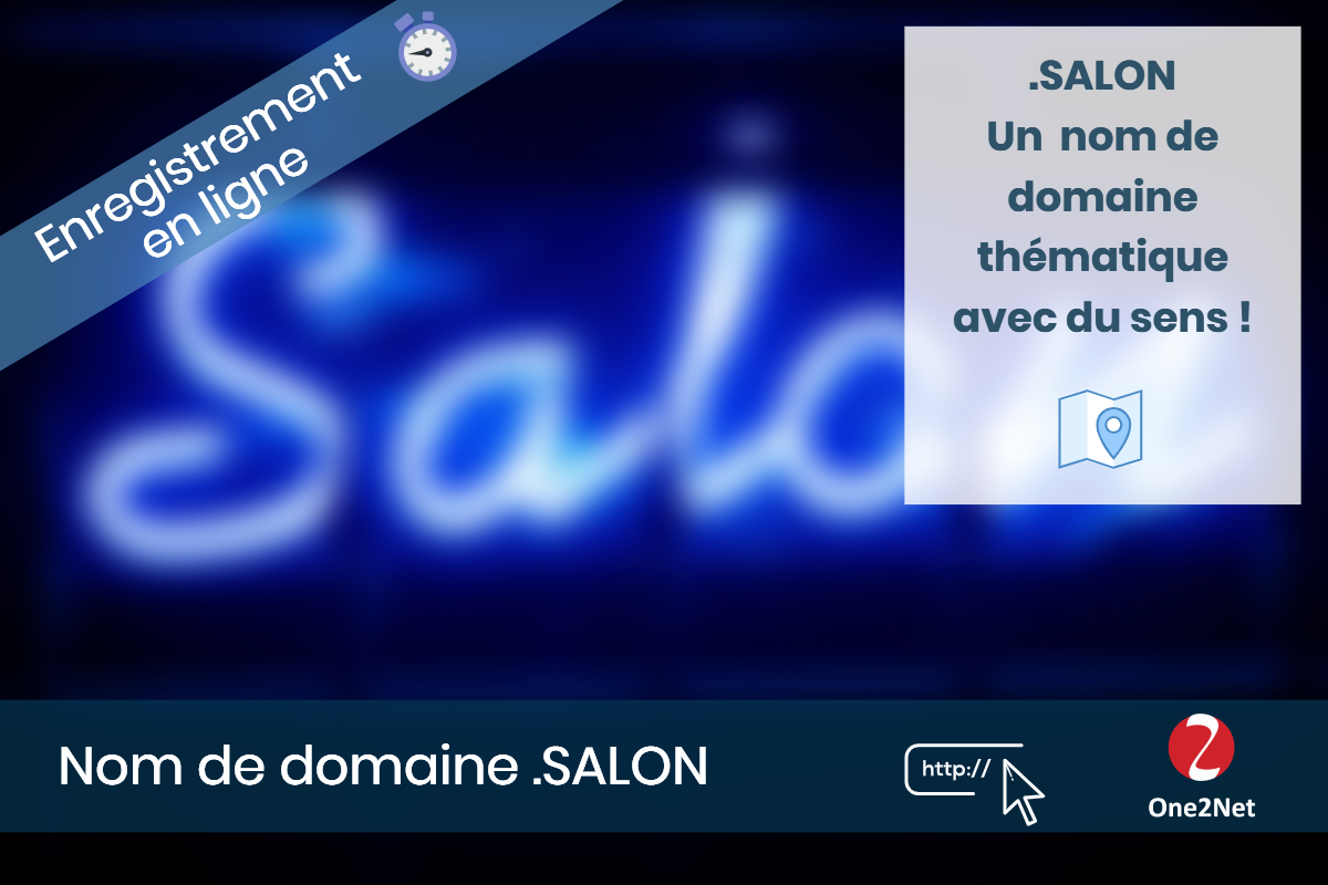 Nom de domaine .SALON - One2Net