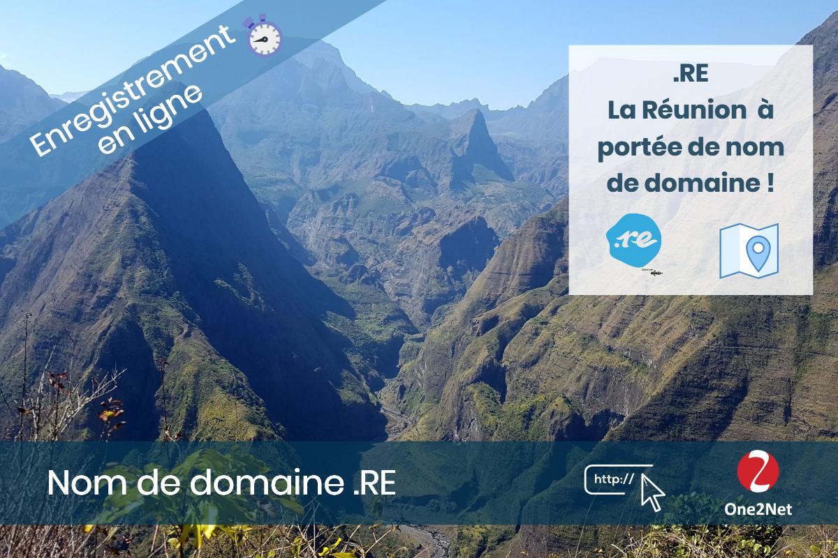 Achat de nom de domaine .RE (La Réunion)
