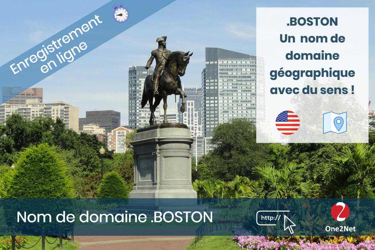 Nom de domaine .BOSTON - One2Net