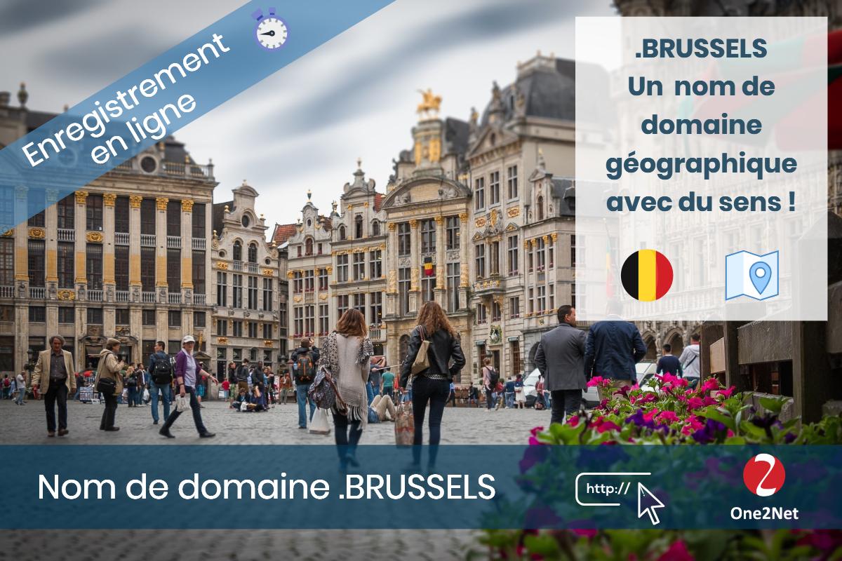 Nom de domaine .BRUSSELS (Bruxelles) - One2Net