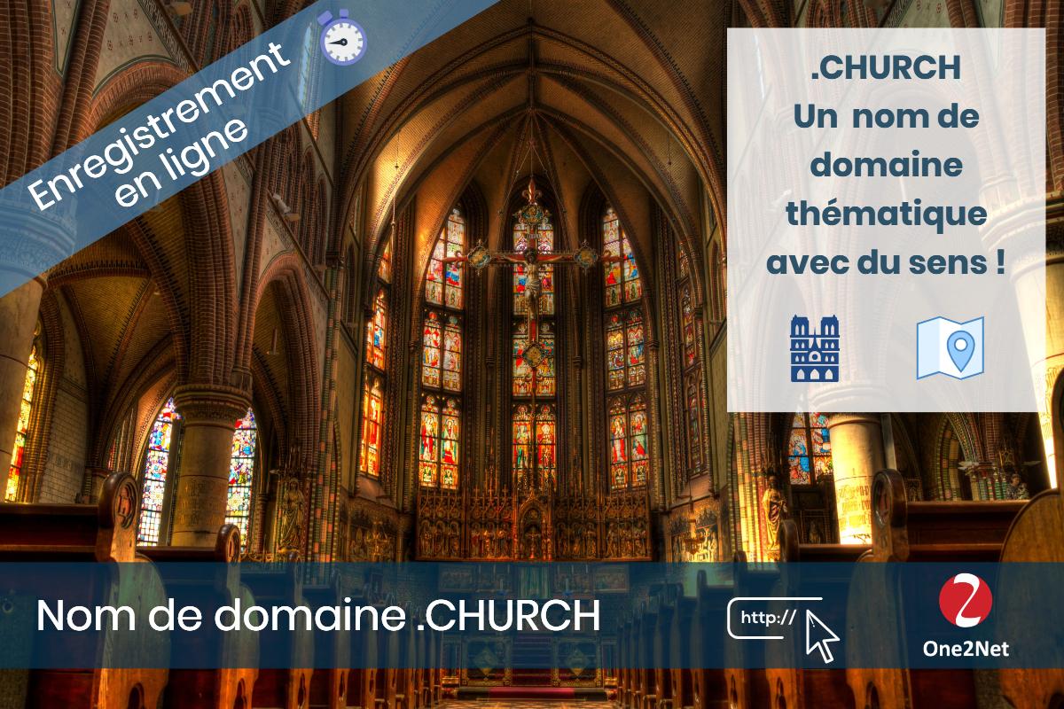 Nom de domaine .CHURCH - One2Net