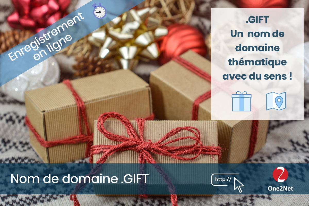 Nom de domaine .GIFT - One2Net
