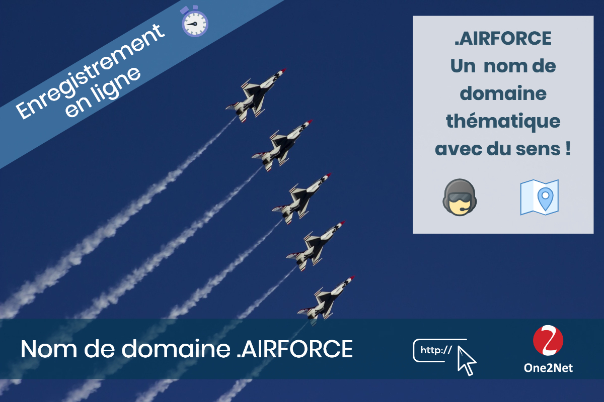 Nom de domaine .AIRFORCE - One2Net