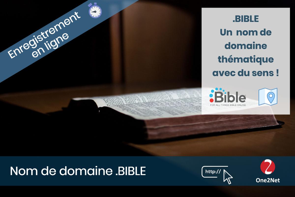 Nom de domaine .BIBLE - One2Net