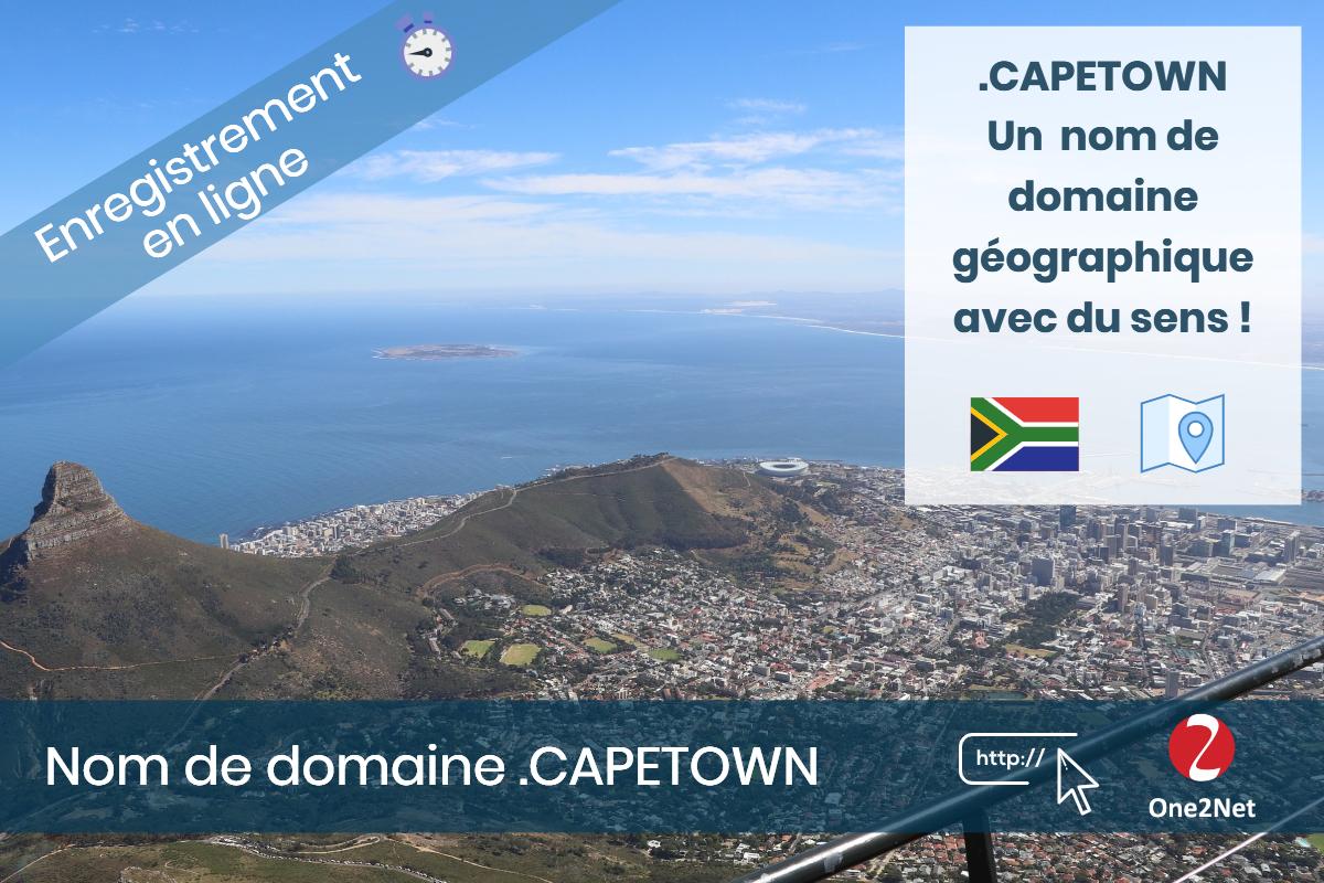 Nom de domaine .CAPETOWN - One2Net
