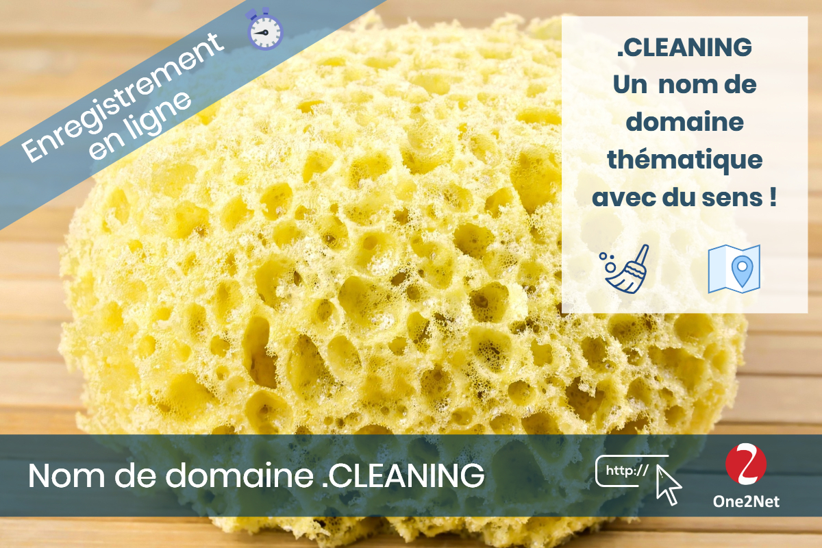 Nom de domaine .CLEANING - One2Net