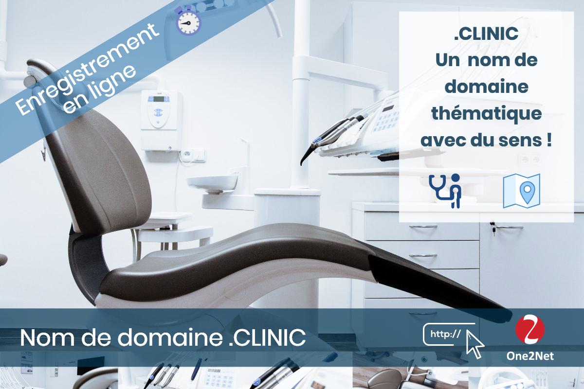 Nom de domaine .CLINIC - One2Net