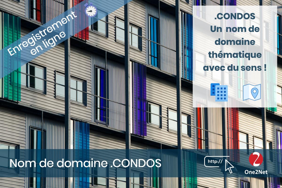 Nom de domaine .CONDOS - One2Net