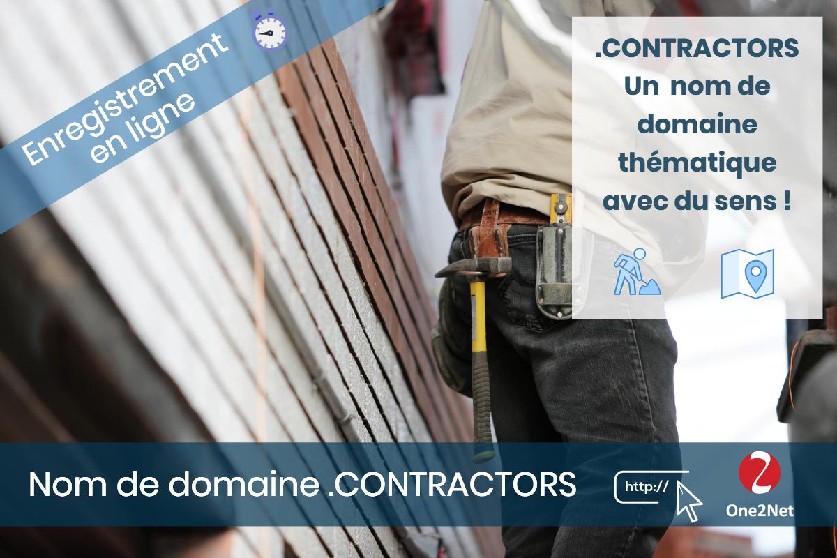 Nom de domaine .CONTRACTORS - One2Net