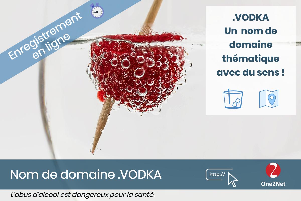 Nom de domaine .VODKA - One2Net