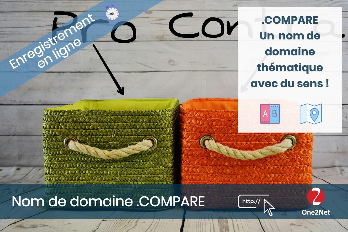 Nom de domaine .COMPARE - One2Net