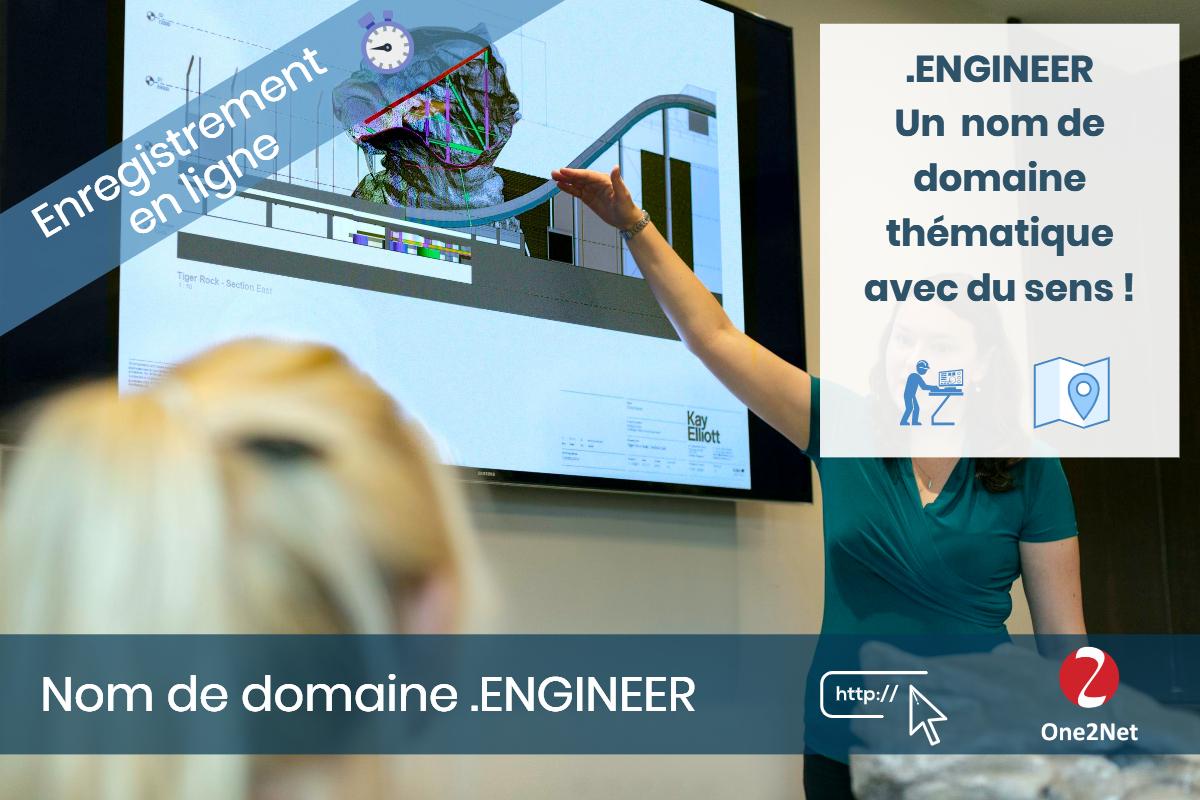 Nom de domaine .ENGINEER - One2Net