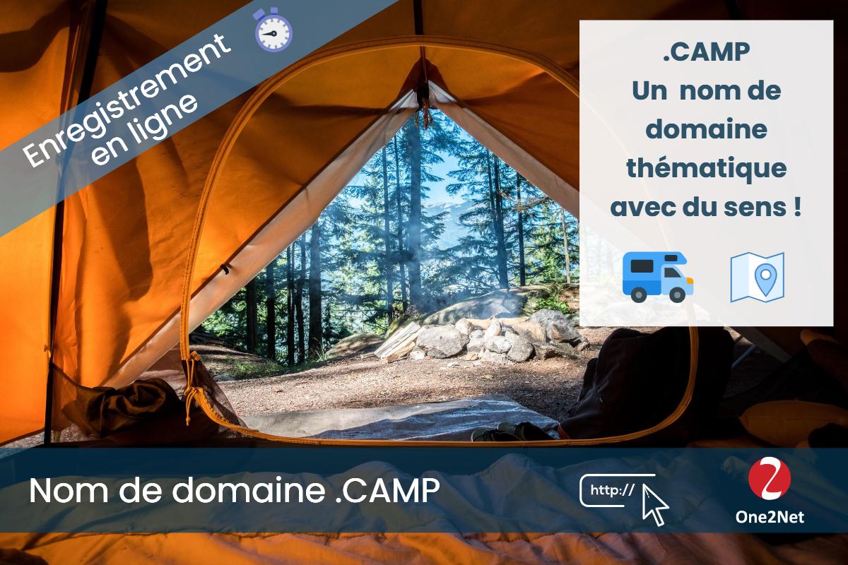 Nom de domaine .CAMP - One2Net