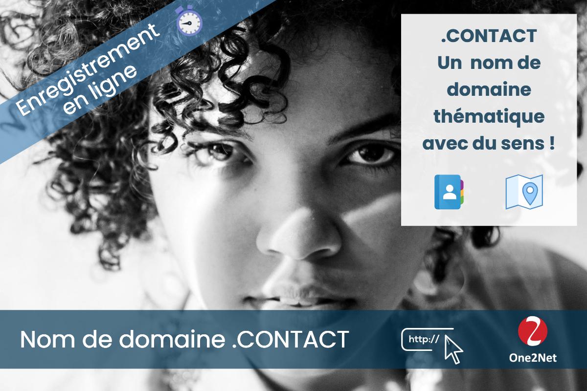Nom de domaine .CONTACT - One2Net