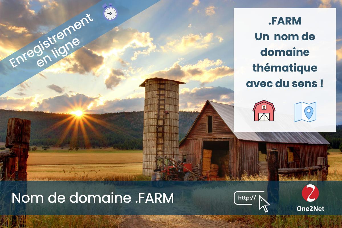 Nom de domaine .FARM - One2Net