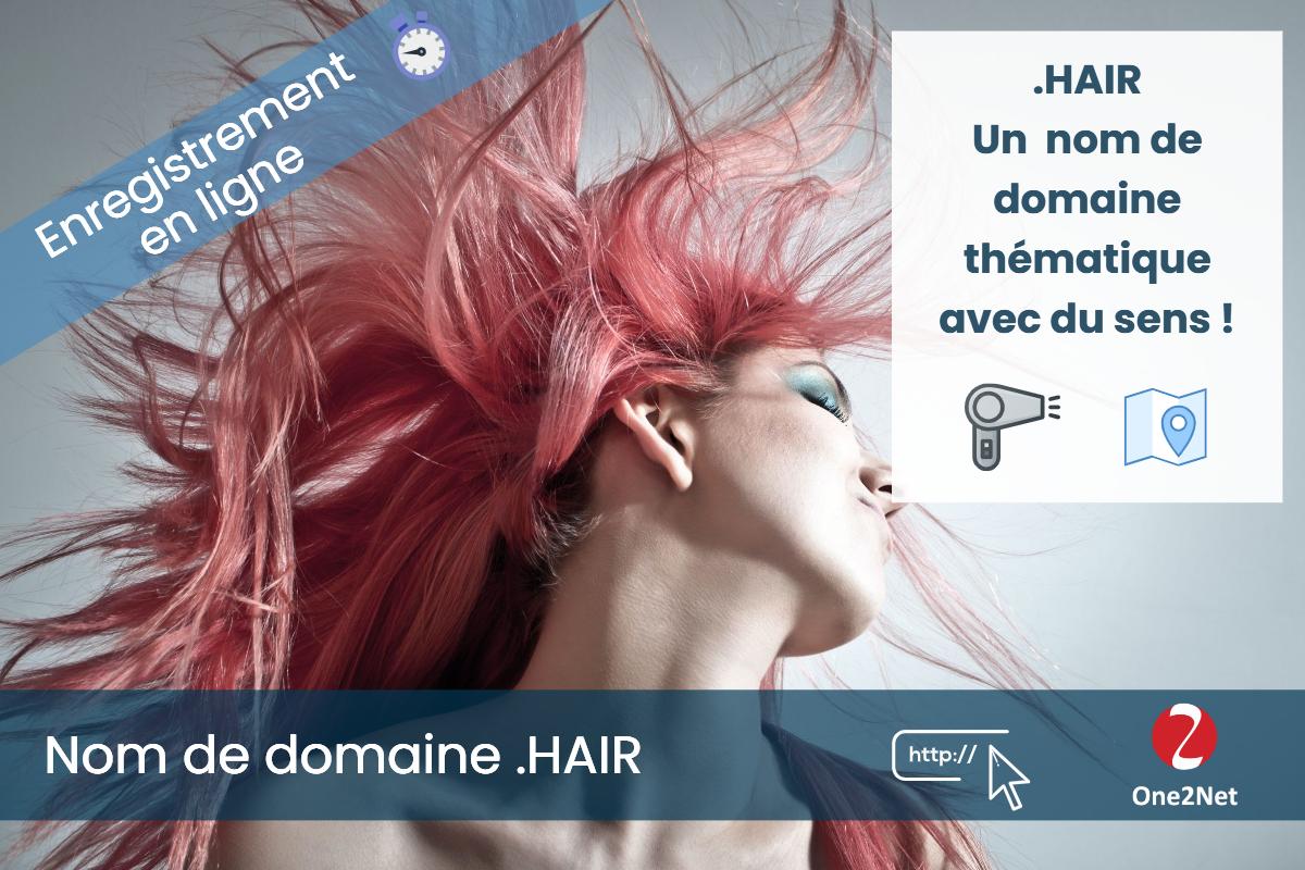 Nom de domaine .HAIR - One2Net