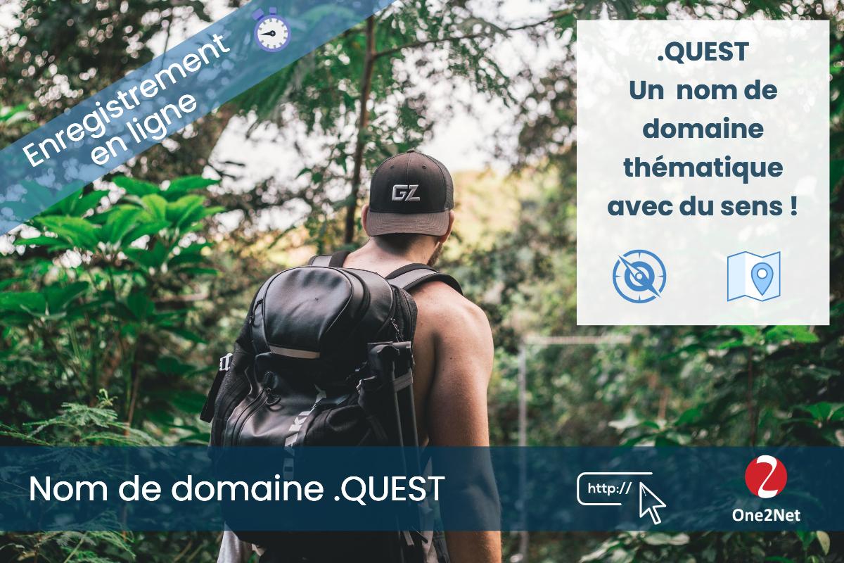 Nom de domaine .QUEST - One2Net
