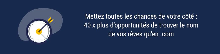 Simplicité du choix d'un .fr