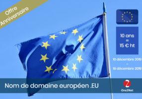 Offre anniversaire sur le nom de domaine EU